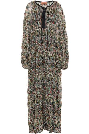 Missoni Women Knitted Dresses - Woman Lace-up Crochet-knit Kaftan Size 38