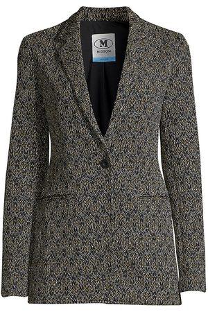 M Missoni Women's Lurex Knit Blazer - - Size 48 (12)