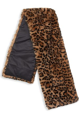Apparis Women's Jasper Leopard-Print Faux Fur Scarf - Leopard