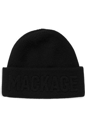 Mackage Men's Short Fleece Logo Beanie
