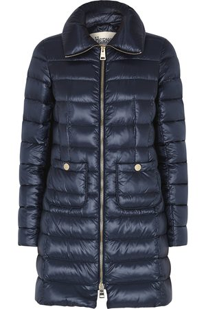 HERNO Icon navy quilted shell coat