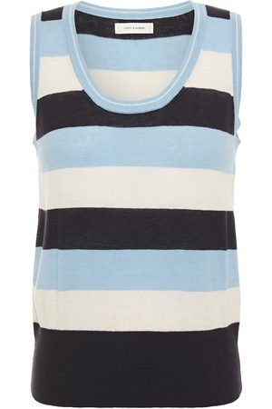 Chinti & Parker Woman Striped Linen And Cotton-blend Jersey Tank Light Size L