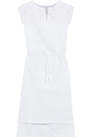 See by Chloé See By Chloé Woman Broderie Anglaise-paneled Cotton-jersey Dress Size L