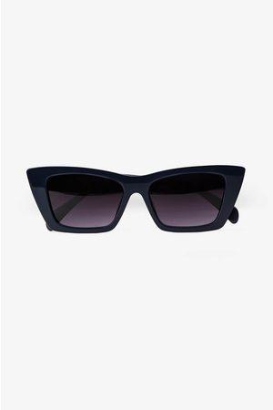 ANINE BING Levi Sunglasses in Navy