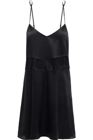 GINIA Woman Corded Lace-trimmed Silk-satin Chemise Size 14