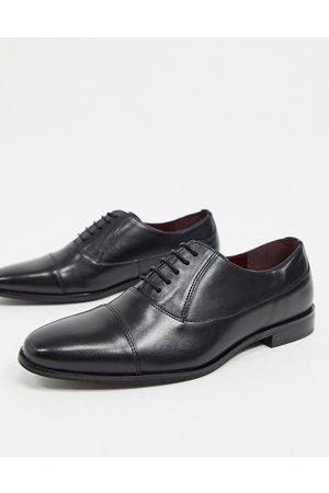 WALK LONDON Alfie toe cap shoes in leather