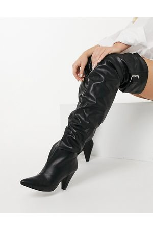 ASOS Kayla thigh high slouch boots in