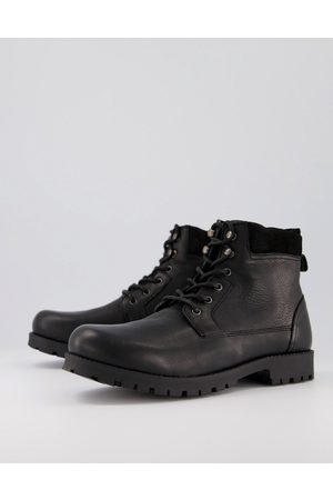 ASOS Lace up worker boots in leather