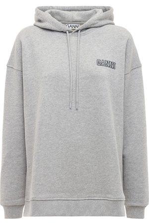 Ganni Women Hoodies - Logo Recycled Fleece Sweatshirt Hoodie