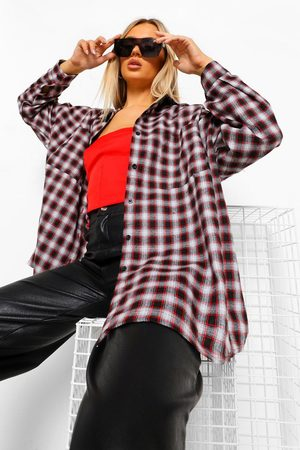 Boohoo Womens Oversized Flanneled Shirt - - 4