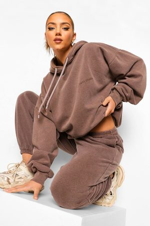 Boohoo Womens Ofcl Studio Overdyed Marl Tracksuit - - S