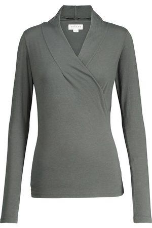 Velvet Meri stretch-cotton wrap top