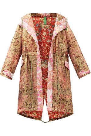 Rianna + Nina Women Parkas - Vintage Silk-brocade Hooded Coat - Womens - Multi
