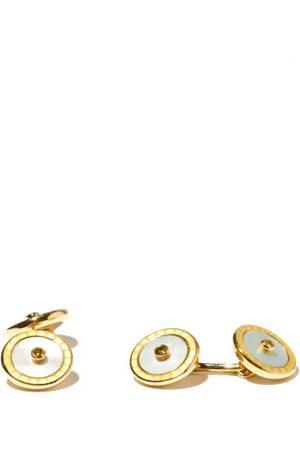 DEAKIN & FRANCIS Sapphire, Mother Of Pearl & 18kt Gold Cufflinks - Mens