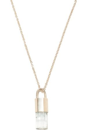 PARTS OF FOUR Talisman Aquamarine & Sterling-silver Necklace - Mens - Light