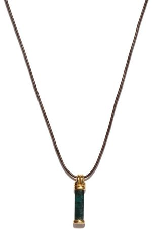 Fernando Jorge Bar Tourmaline & 18kt Pendant Necklace - Mens