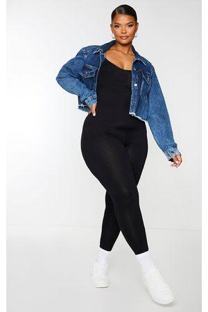 PRETTYLITTLETHING Women Jumpsuits - Plus Basic Strappy Plunge Jumpsuit