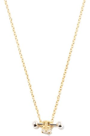 DELFINA DELETTREZ Two In One Diamond & 18kt Pendant Necklace - Womens