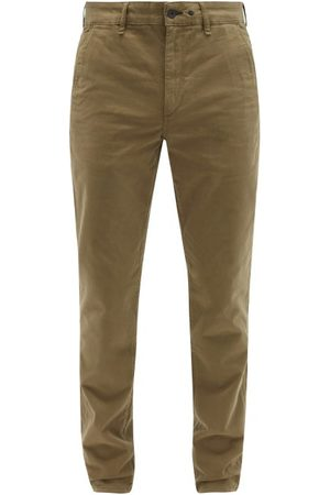 RAG&BONE Fit 2 Logo-embroidered Cotton-blend Chino Trousers - Mens - Khaki