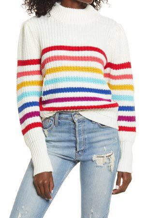 ENGLISH FACTORY Women's Rainbow Stripe Sweater
