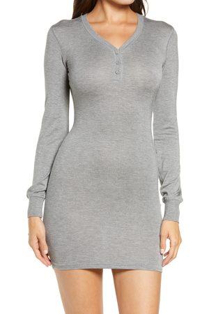 SKIMS Plus Size Women's Henley Sleep Shirt