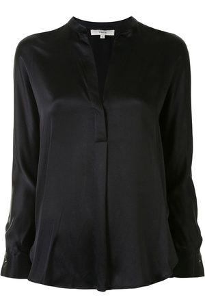 Vince Women Blouses - Silk v-neck blouse