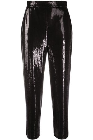 Karl Lagerfeld Women Pants - Cropped sequin trousers