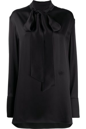 Jil Sander Women Blouses - Mock-neck silk blouse