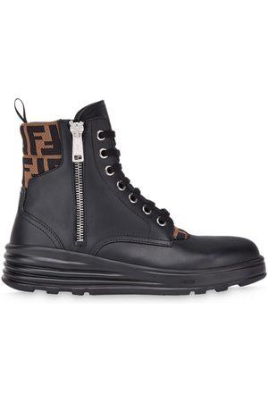 Fendi FF logo trim ankle boots