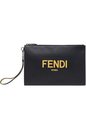 Fendi Embossed logo clutch bag