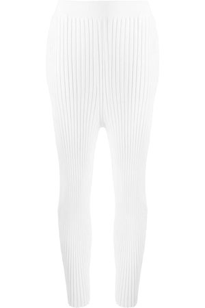 Stella McCartney Ribbed high-waisted leggings