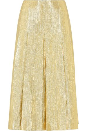 Fendi Metallic threading pleated skirt