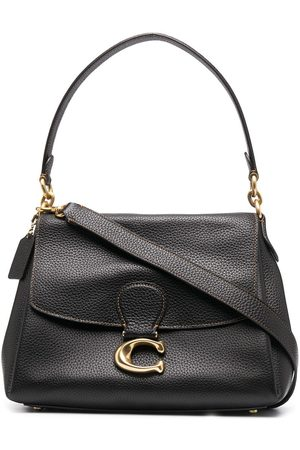 Coach Women Tote Bags - Logo-plaque leather tote bag
