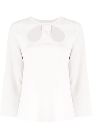 Stella McCartney Cut-out cropped top - Neutrals
