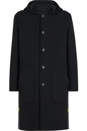 Fendi Single-breasted hooded duffle coat