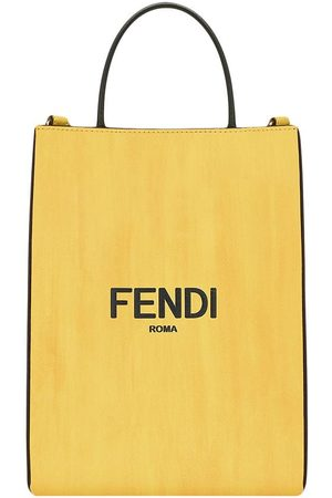 Fendi Small logo print shopping bag