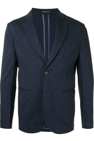 Emporio Armani Zig-zag print tailored blazer