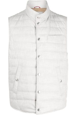 Brunello Cucinelli Buttoned-up padded gilet - Grey