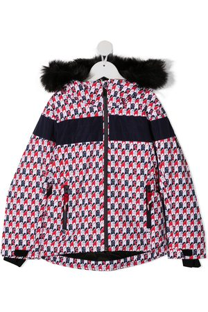 Rossignol Girls Puffer Jackets - Padded printed zip-up jacket