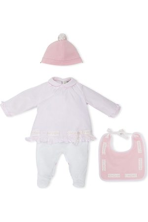 Fendi Babygrow hat and bib set