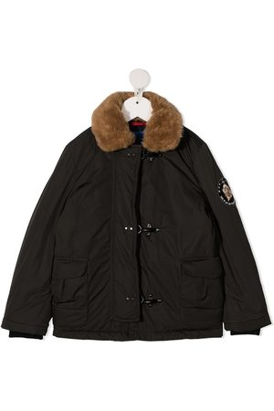 FAY KIDS Girls Bomber Jackets - Faux-fur collar bomber jacket