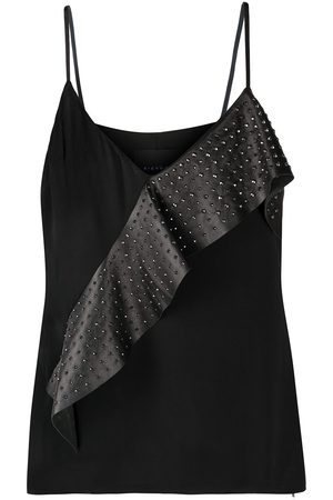 John Richmond Asymmetric ruffle vest