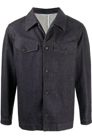 Salvatore Ferragamo Men Denim Jackets - Dark wash denim jacket