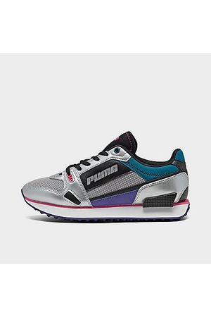 PUMA Women's Mile Rider Casual Shoes in Grey Size 6.0 Suede