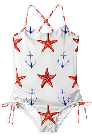 STELLA COVE Baby's, Little Girl's & Girl's Starfish & Anchor One-Piece Swimsuit - - Size 2