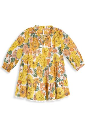 ZIMMERMANN Little Girl's & Girl's Poppy Floral Long Sleeve Tiered Flounce Shirtdress - - Size 8