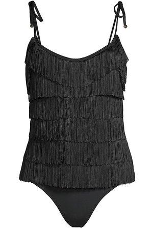 Stella McCartney Women's Fringe Front One-Piece Swimsuit - - Size Small