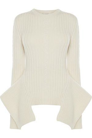 Alexander McQueen Women's Wool & Cashmere Flared Knit Sweater - - Size Medium