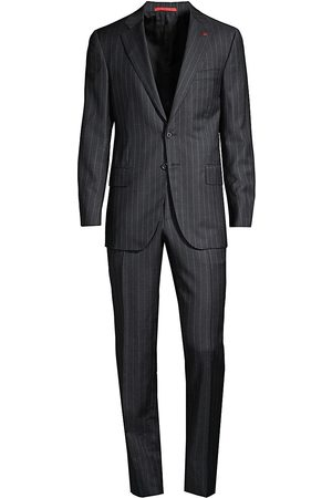ISAIA Men's Timeless Pinstripe Wool Suit - - Size 60 (50) R