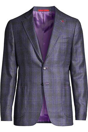 ISAIA Men's Plaid Silk & Cashmere Sportcoat - - Size 60 (50) R